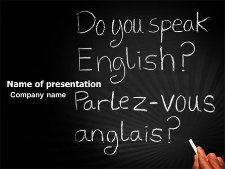 Education & Training: English Courses PowerPoint Template #03706