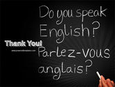 English Courses PowerPoint Template#20