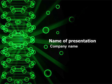 DNA Spiral PowerPoint Template, 03707, Technology and Science — PoweredTemplate.com