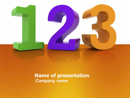 One Two Three PowerPoint Template, 03709, 3D — PoweredTemplate.com