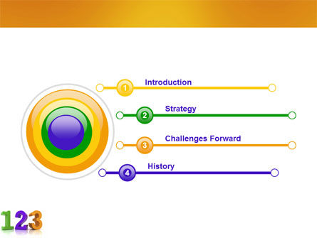 One Two Three PowerPoint Template, Slide 3, 03709, 3D — PoweredTemplate.com