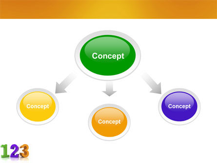 One Two Three PowerPoint Template, Slide 4, 03709, 3D — PoweredTemplate.com