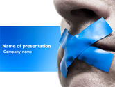 Consulting: Silence PowerPoint Template #03710
