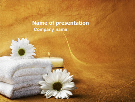 Bath Towels PowerPoint Template, 03713, Health and Recreation — PoweredTemplate.com