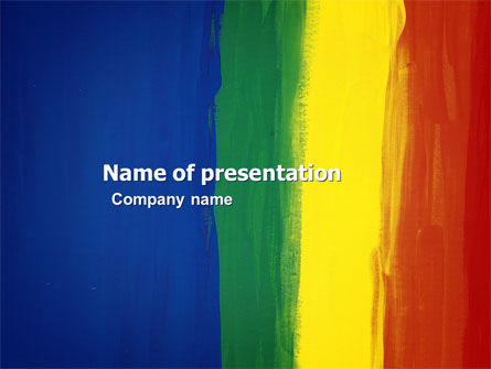 Various Colors Of Paint PowerPoint Template, 03714, Art & Entertainment — PoweredTemplate.com