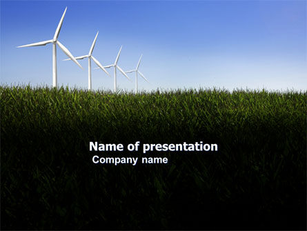 Wind Mills PowerPoint Template, 03715, Nature & Environment — PoweredTemplate.com
