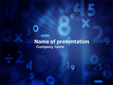 Blue Numbers PowerPoint Template, 03718, Education & Training — PoweredTemplate.com