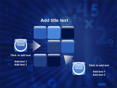 Blue Numbers PowerPoint Template Slide 16