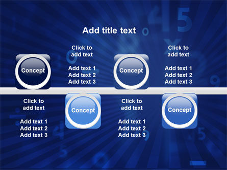 Blue Numbers PowerPoint Template Slide 19