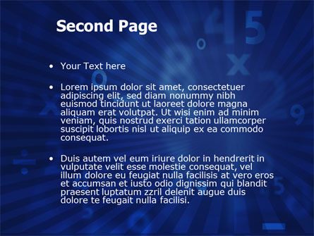 Blue Numbers PowerPoint Template Slide 2