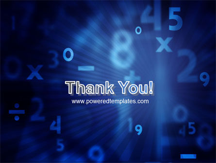 Blue Numbers PowerPoint Template Slide 20