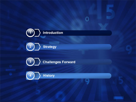 Blue Numbers PowerPoint Template, Slide 3, 03718, Education & Training — PoweredTemplate.com