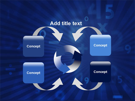 Blue Numbers PowerPoint Template Slide 6