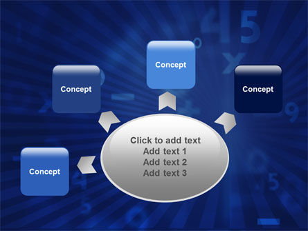 Blue Numbers PowerPoint Template Slide 7