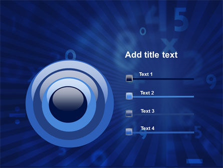 Blue Numbers PowerPoint Template Slide 9