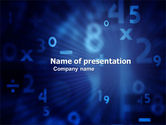 Education & Training: Blue Numbers PowerPoint Template #03718