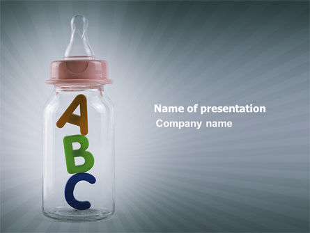 Learn Alphabet PowerPoint Template, 03719, Education & Training — PoweredTemplate.com