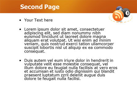 RSS Reader PowerPoint Template, Slide 2, 03721, Technology and Science — PoweredTemplate.com