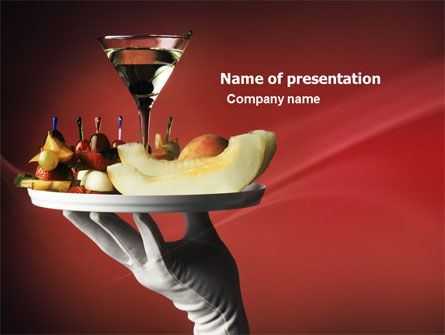 Snacks and Cocktail PowerPoint Template, 03722, Careers/Industry — PoweredTemplate.com