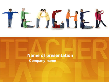 Teacher of Class PowerPoint Template, 03723, Education & Training — PoweredTemplate.com