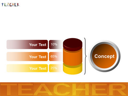 Teacher of Class PowerPoint Template Slide 11