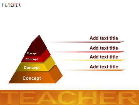 Teacher of Class PowerPoint Template Slide 12