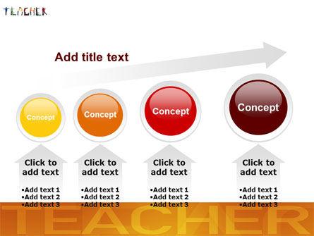 Teacher of Class PowerPoint Template Slide 13