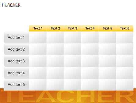 Teacher of Class PowerPoint Template Slide 15