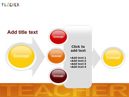 Teacher of Class PowerPoint Template Slide 17
