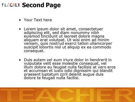 Teacher of Class PowerPoint Template Slide 2