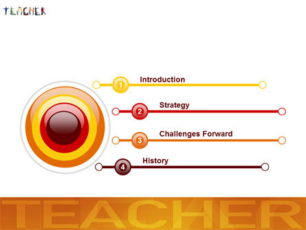 Teacher of Class PowerPoint Template, Slide 3, 03723, Education & Training — PoweredTemplate.com