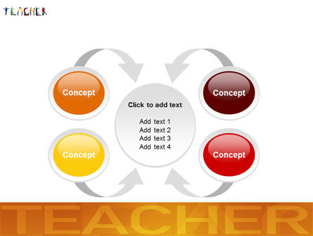 Teacher of Class PowerPoint Template Slide 6