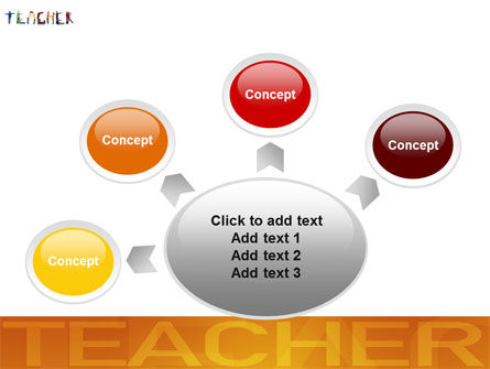 Teacher of Class PowerPoint Template Slide 7