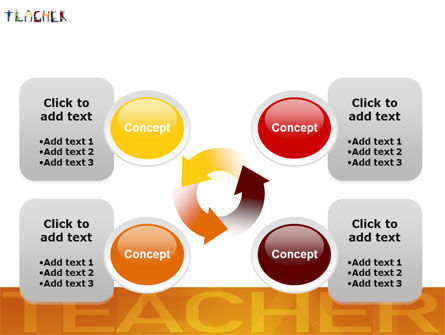 Teacher of Class PowerPoint Template Slide 9
