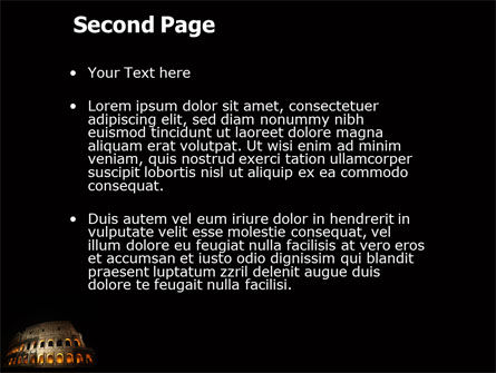 Coliseum PowerPoint Template, Slide 2, 03724, Construction — PoweredTemplate.com