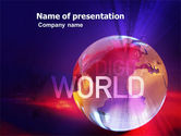 Telecommunication: Digital Land PowerPoint Template #03730