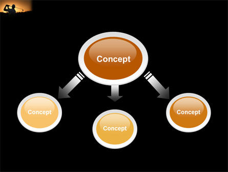 Golf Game On The Sunset PowerPoint Template, Slide 4, 03731, Sports — PoweredTemplate.com
