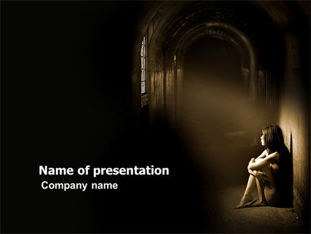 Solitariness PowerPoint Template