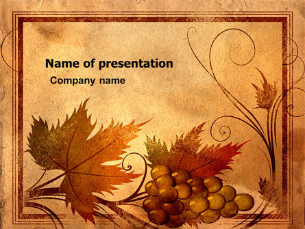 Agriculture: Autumn Theme in Light Brown PowerPoint Template #03734