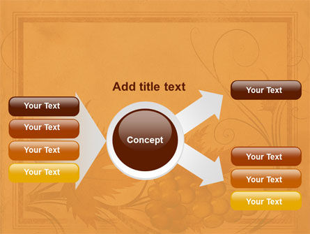 Autumn Theme in Light Brown PowerPoint Template Slide 14