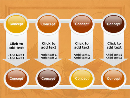 Autumn Theme in Light Brown PowerPoint Template Slide 18