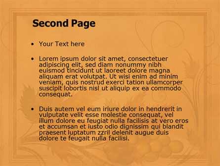 Autumn Theme in Light Brown PowerPoint Template Slide 2