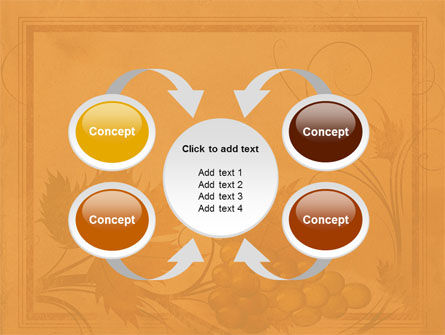 Autumn Theme in Light Brown PowerPoint Template Slide 6
