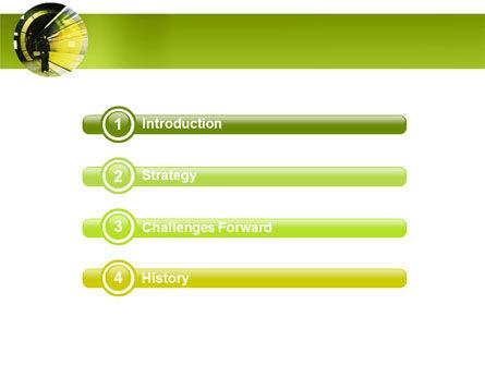 Data Stream PowerPoint Template, Slide 3, 03738, Technology and Science — PoweredTemplate.com