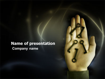 Keys On The Palm PowerPoint Template