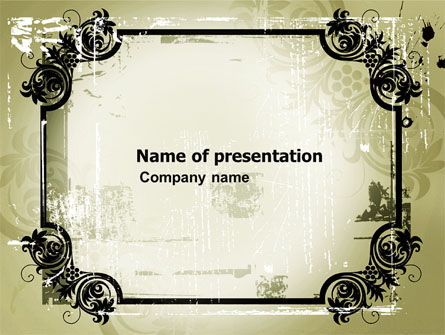 Abstract/Textures: Artistic Frame PowerPoint Template #03742