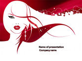Careers/Industry: Glamour Girl PowerPoint Template #03744