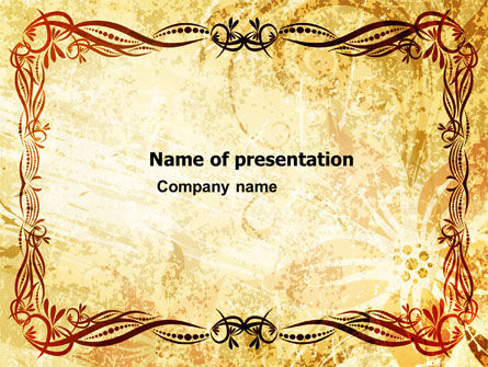 Abstract/Textures: Fanciful Frame PowerPoint Template #03746