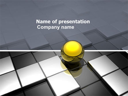 Yellow Ball PowerPoint Template, 03747, Business Concepts — PoweredTemplate.com