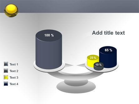 Yellow Ball PowerPoint Template Slide 10